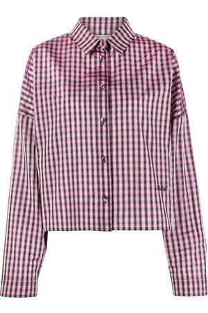 Serafini Check print boxy shirt