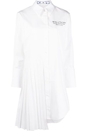 OFF-WHITE Pleat-detail shirtdress