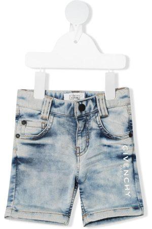 Givenchy Shorts - Logo-print denim shorts