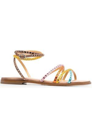 GIANNICO Women Flat Shoes - Crystal-embellished flat sandals