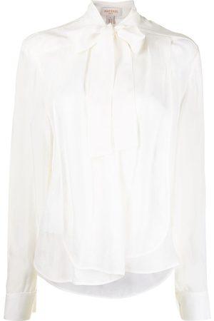 MATÉRIEL by Aleksandre Akhalkatsishvili Women Blouses - Tie-neck long-sleeved blouse