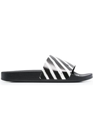 OFF-WHITE Diag-stripe flat slides