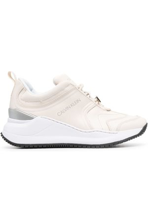 Calvin Klein Women Sneakers - Leather low-top trainers - Neutrals