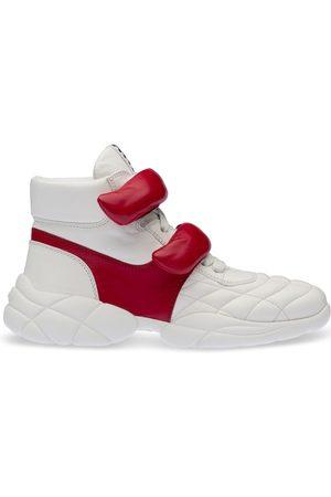 Miu Miu Front-strap high-top sneakers