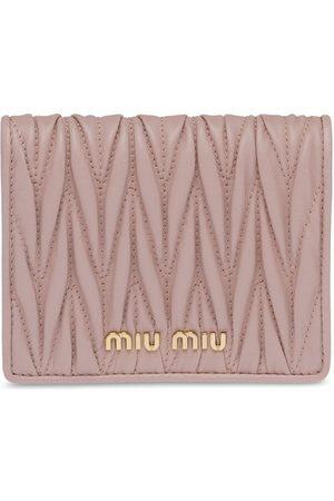 Miu Miu Matelassé compact wallet