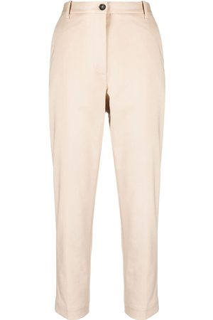 Nine In The Morning High-waisted cropped trousers - Neutrals