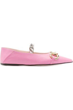 Gucci Horsebit leather ballerina shoes
