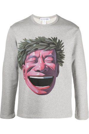 Comme des Garçons Graphic-print cotton jumper - Grey