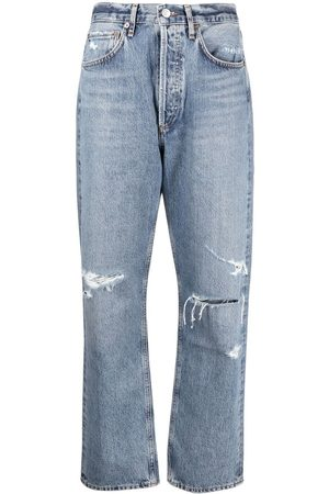 AGOLDE Ripped organic cotton jeans