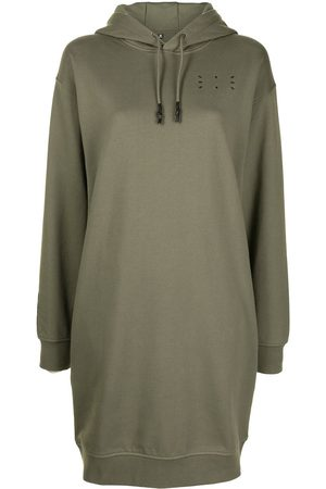 McQ Logo-detail hoodie dress
