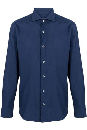 FEDELI Fitted button-down shirt