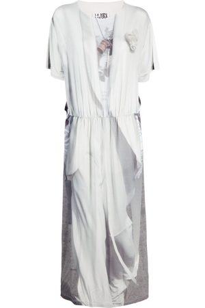 MM6 MAISON MARGIELA Abstract-print T-shirt dress