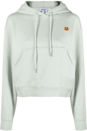 Kenzo Women Hoodies - Tiger patch cotton hoodie