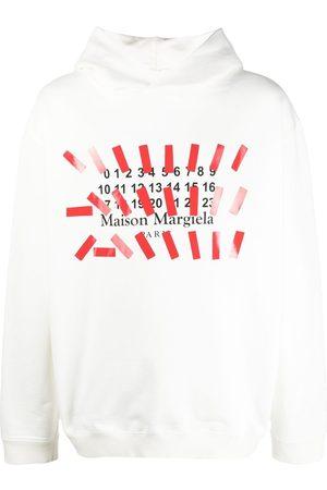Maison Margiela Men Hoodies - Logo-print hoodie