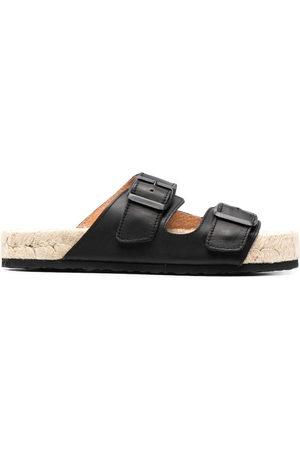 MANEBI Women Platform Sandals - Buckled platform sandals