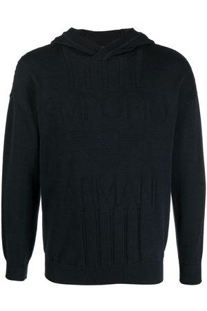 Emporio Armani Men Sweatshirts - Logo embroidered jumper