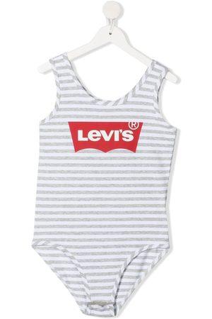 Levi's TEEN logo-print bodysuit - Grey