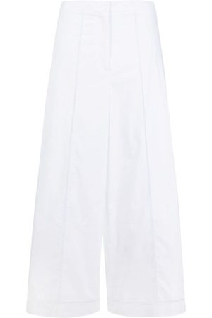 THEORY Embroidered wide-leg cropped trousers