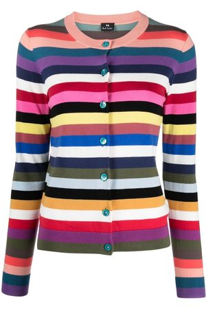 Paul Smith Horizontal-stripe button-fastening cardigan