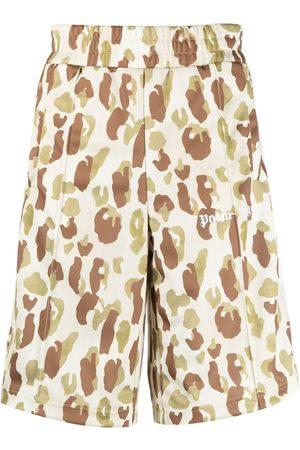 Palm Angels Desert Camo logo track shorts - Neutrals