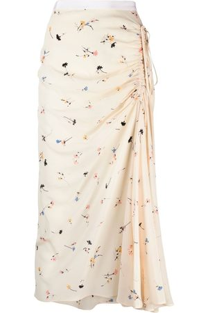 Nº21 Women Printed Skirts - Ruched floral-print skirt - Neutrals