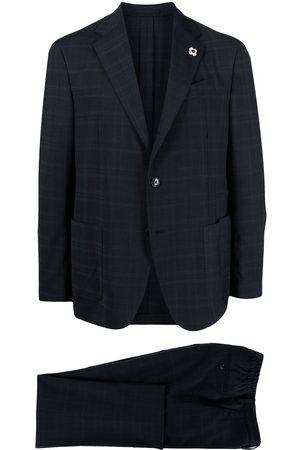 LARDINI Check print two piece suit