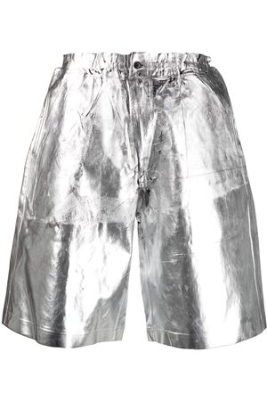 Comme des Garçons Metallic knee-length shorts
