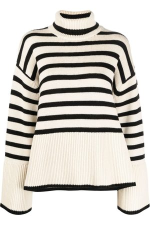 Totême Striped roll neck jumper - Neutrals