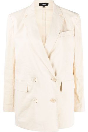 THEORY Piazza linen-blend jacket - Neutrals
