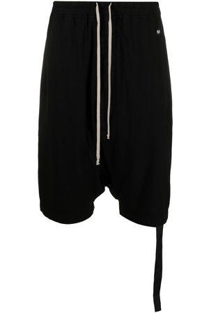 Rick Owens Men Sports Shorts - Drop-crotch cotton shorts