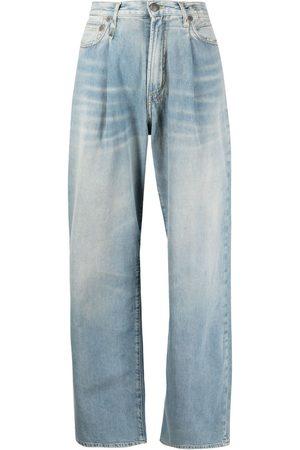 R13 Damon pleated wide-leg trousers