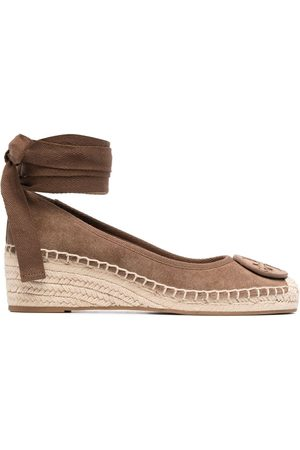 Tory Burch Logo-patch wedge espadrilles
