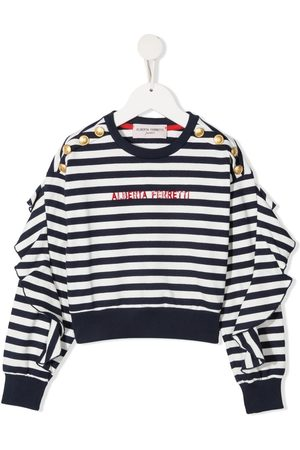 Alberta Ferretti Girls Hoodies - Logo-print sweatshirt