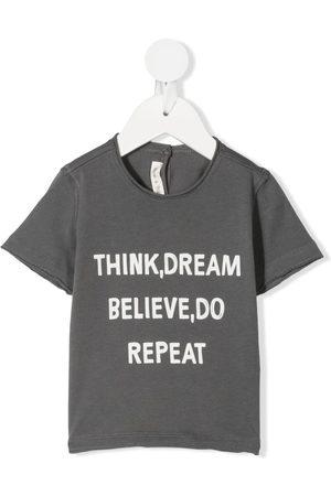 Zhoe & Tobiah Slogan-print cotton T-shirt - Grey