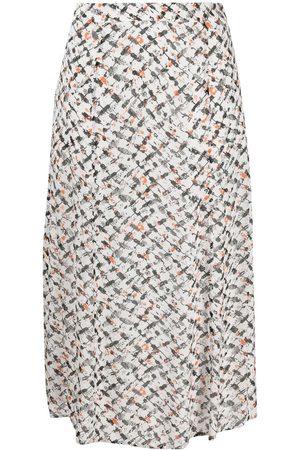 LALA BERLIN Women Printed Skirts - Geometric print high-waist skirt
