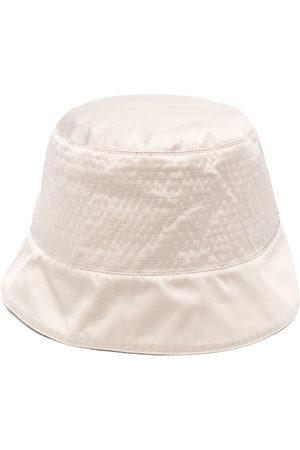Rick Owens Logo-patch bucket hat - Neutrals