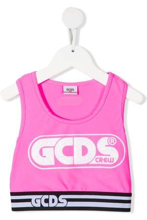 GCDS Logo-print tank top