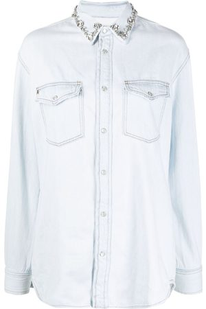 Golden Goose Crystal-embellished denim shirt