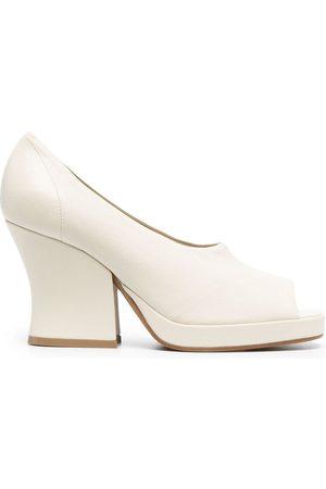 Bottega Veneta Stack 90mm platform sandals - Neutrals