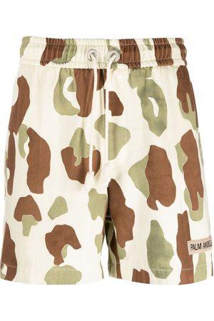 Palm Angels Camouflage-print drawstring shorts - Neutrals