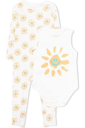 Stella McCartney Bodysuits & All-In-Ones - Happy Sun-print babygrow set