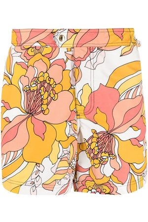 Tom Ford Men Swim Shorts - Floral-print swim shorts