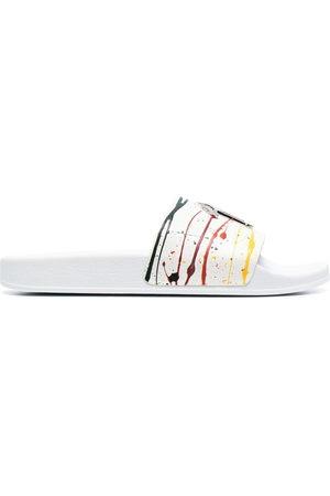Giuseppe Zanotti Paint-splatter slides