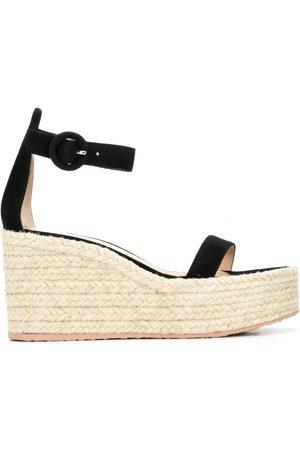 Gianvito Rossi Women Platform Sandals - Braided platform suede sandals