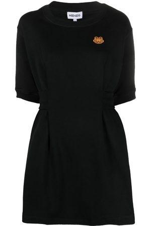 Kenzo Women Sweatshirts - Embroidered-motif sweatshirt dress