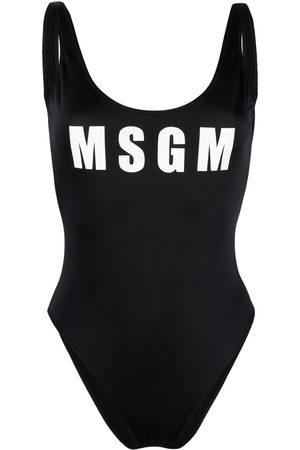 Msgm Women Swimsuits - Logo-print swimsuit