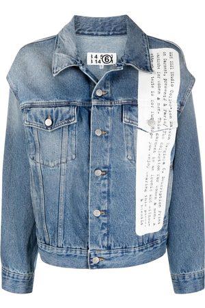MM6 MAISON MARGIELA Women Denim Jackets - Description print denim jacket