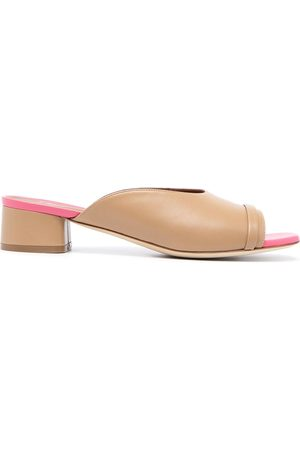 MALONE SOULIERS Two-tone slip-on mules - Neutrals