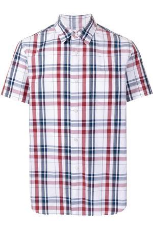 Fumito Ganryu Plaid-check print shirt
