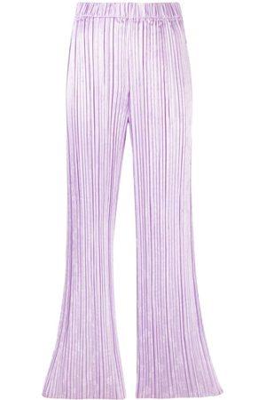 FORTE FORTE Women Wide Leg Pants - Plissé flared trousers